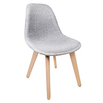 Chaise scandinave tissus gris
