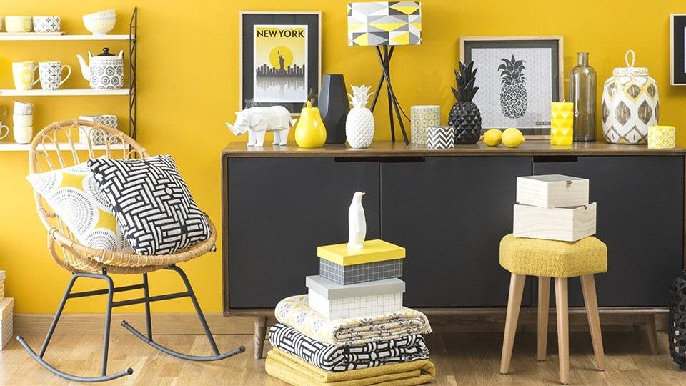Deco scandinave gris jaune