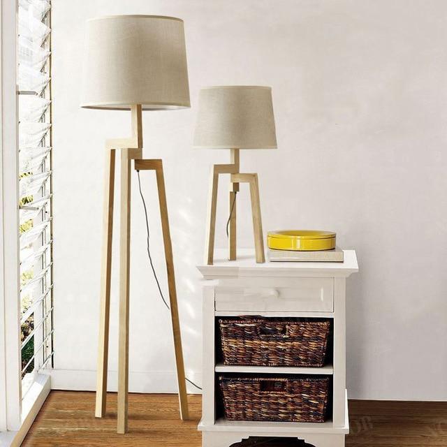 Salon lampadaire scandinave
