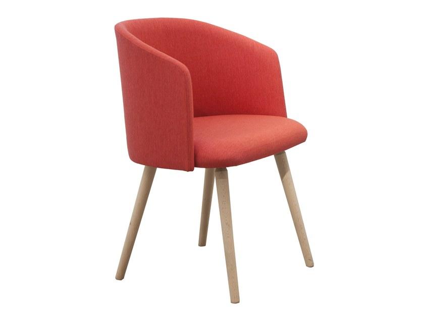 Chaise style scandinave avec accoudoir