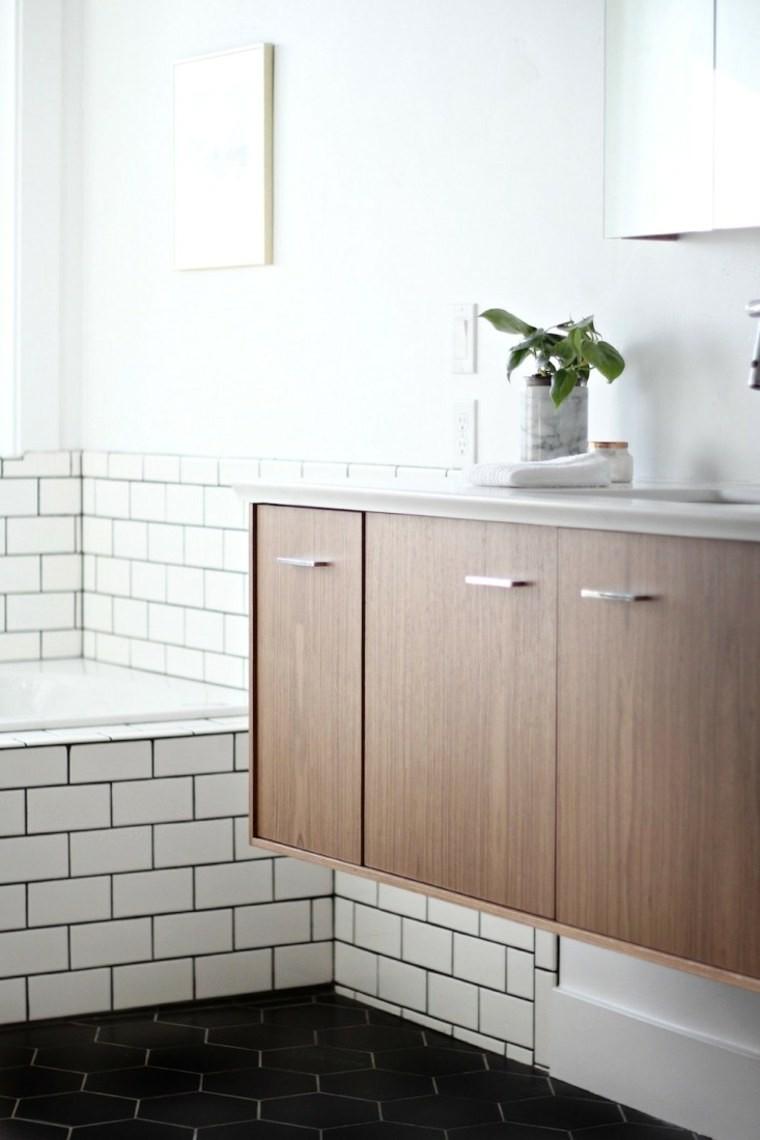 Meuble scandinave pour salle de bain