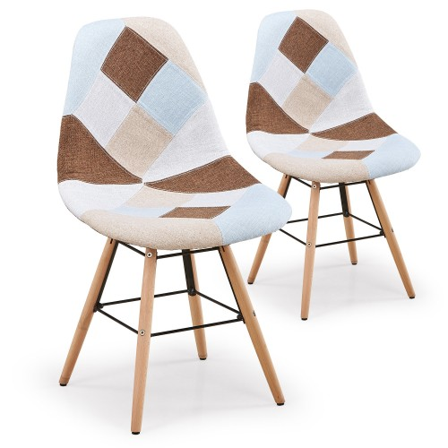 Chaise scandinave beige lot de 2