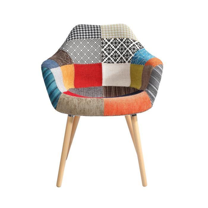 Chaise scandinave multicolor