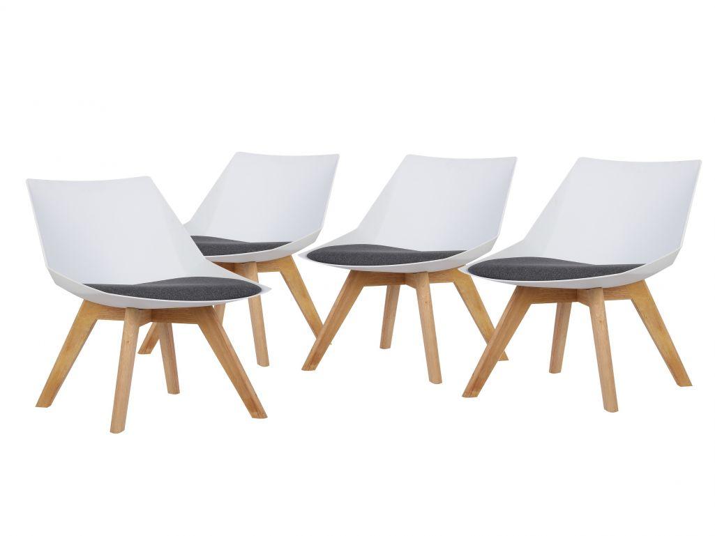 Chaise design scandinave stockholm blanc