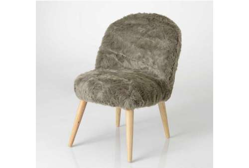 Chaise scandinave fourure