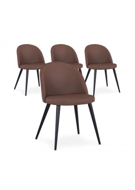 Chaise scandinave marron sable