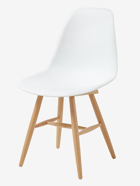 Chaise scandinave blanche bois
