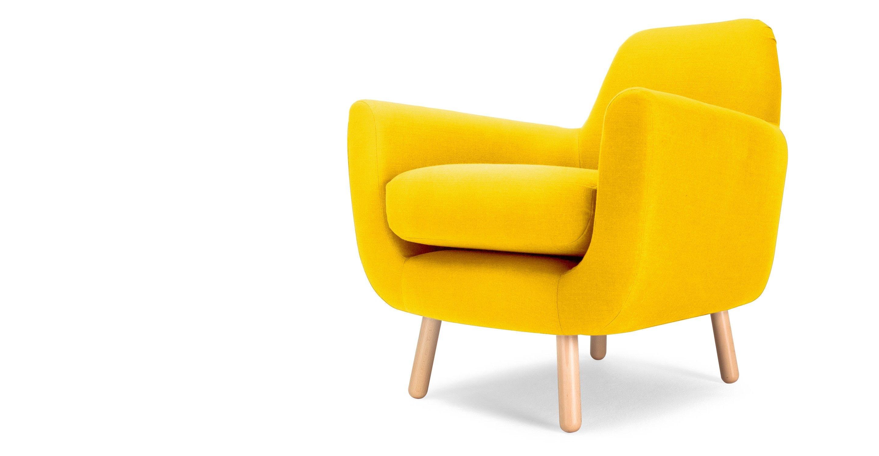 Chaise scandinave coque jaune fjord