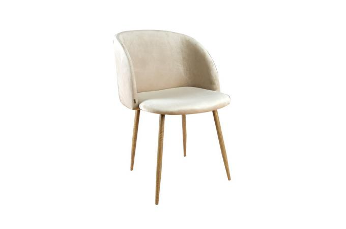 Chaise beige scandinave