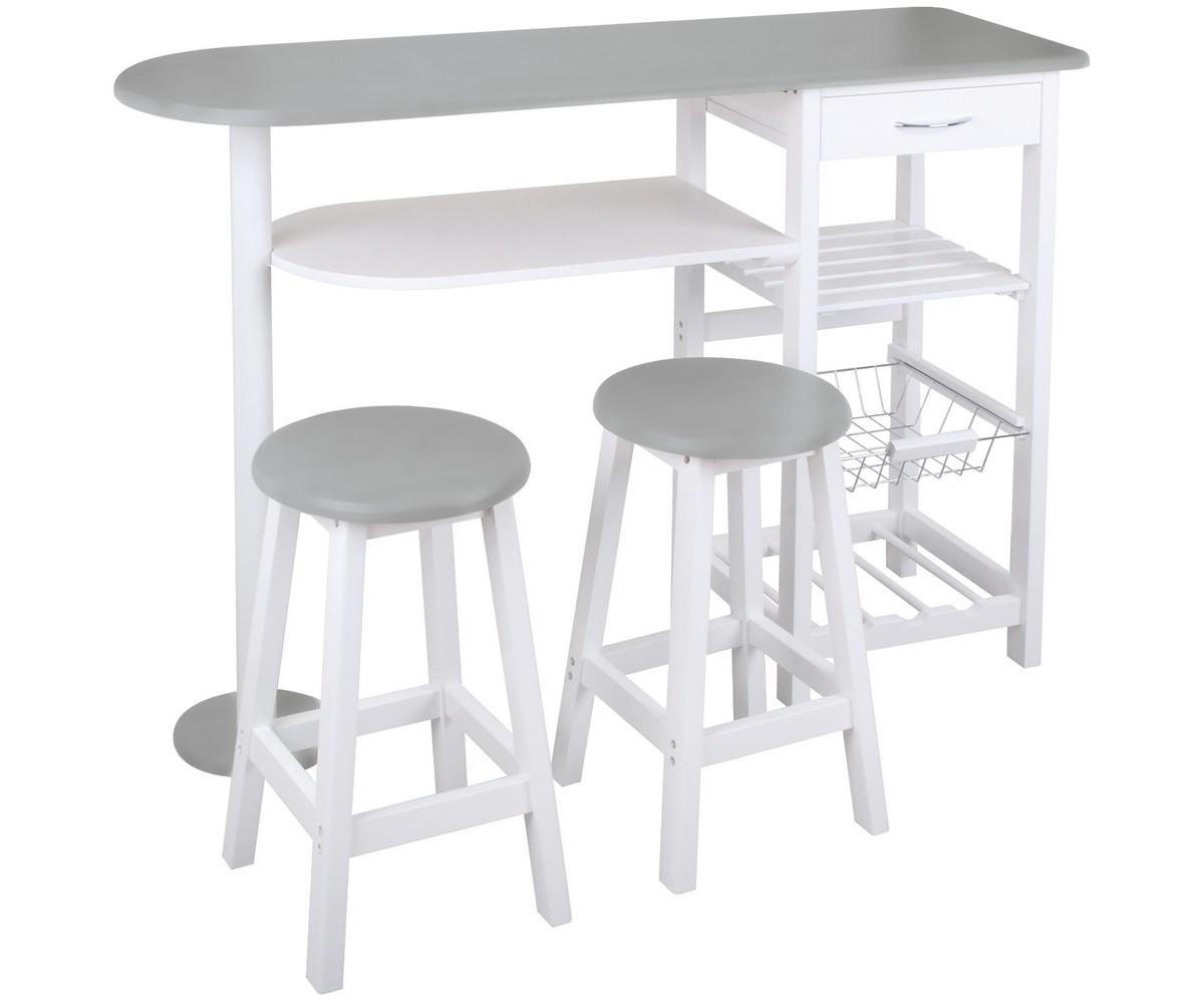 Table et tabouret de bar pas cher