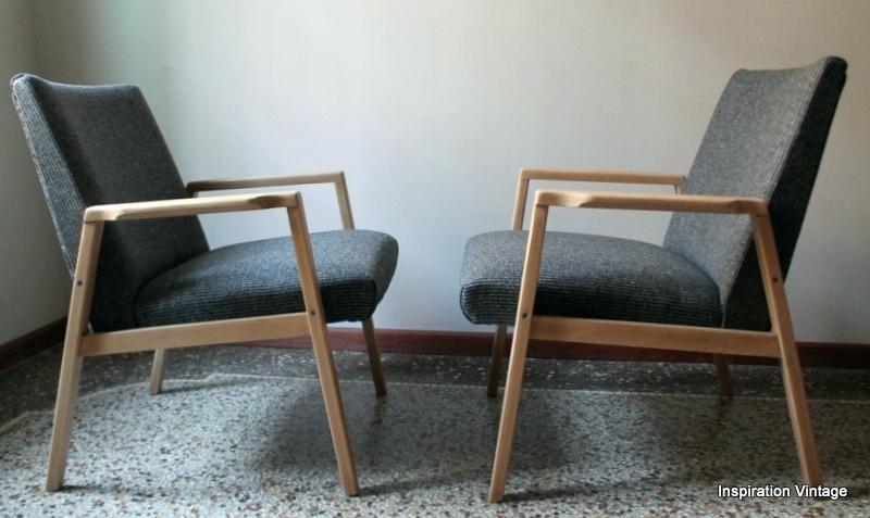Chaise bois tissus scandinave