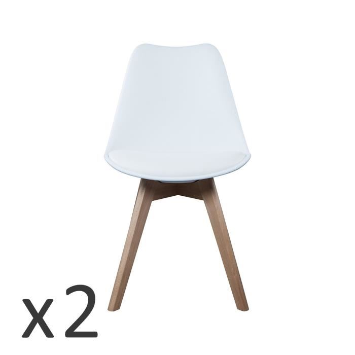 Lot chaise scandinave blanche