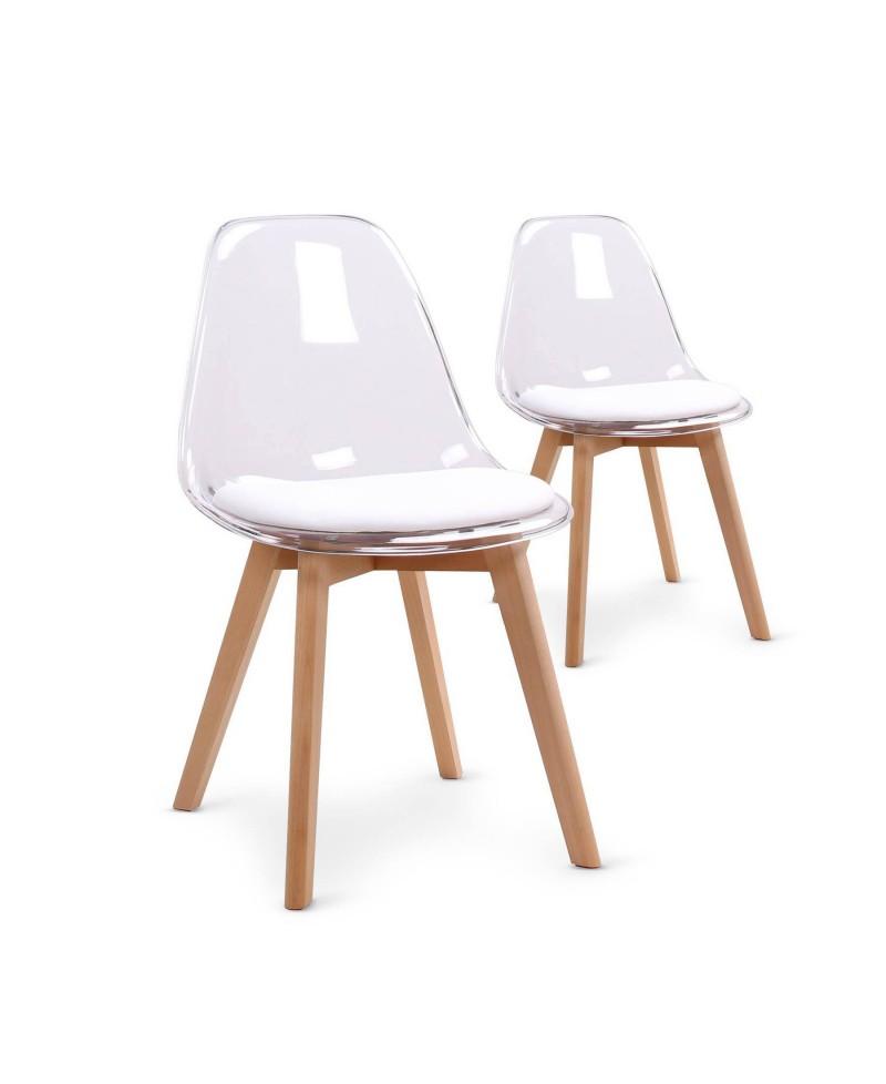 Chaise scandinave par 2