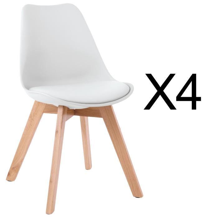 Chaise scandinave inox