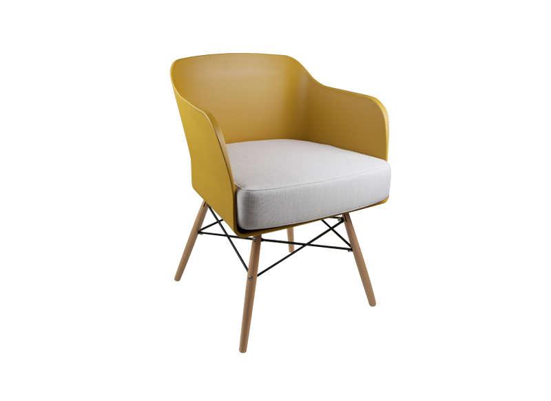Chaise scandinave pas cher jaune