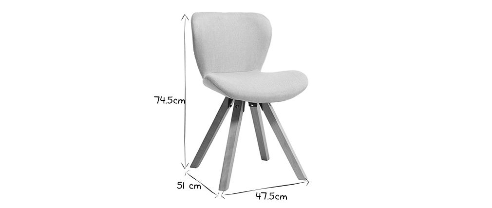 Chaise scandinave pied blanc