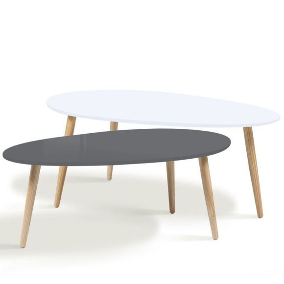 Table basse effie scandinave bois blanc