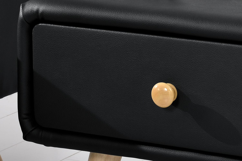 Table de chevet scandinave noire