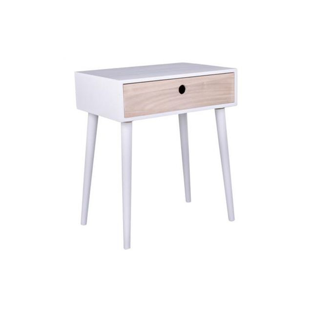 Table chevet scandinave blanc