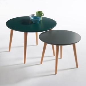 Table basse scandinave verte