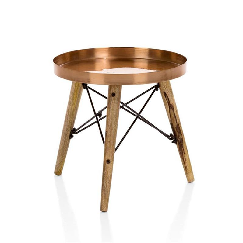 Table d'appoint scandinave rose
