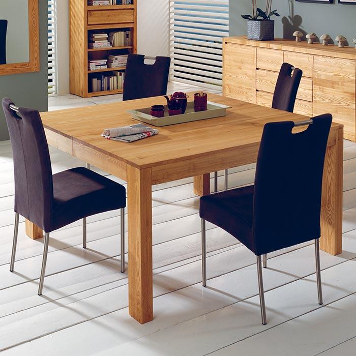 Table carrée bois cocktail scandinave