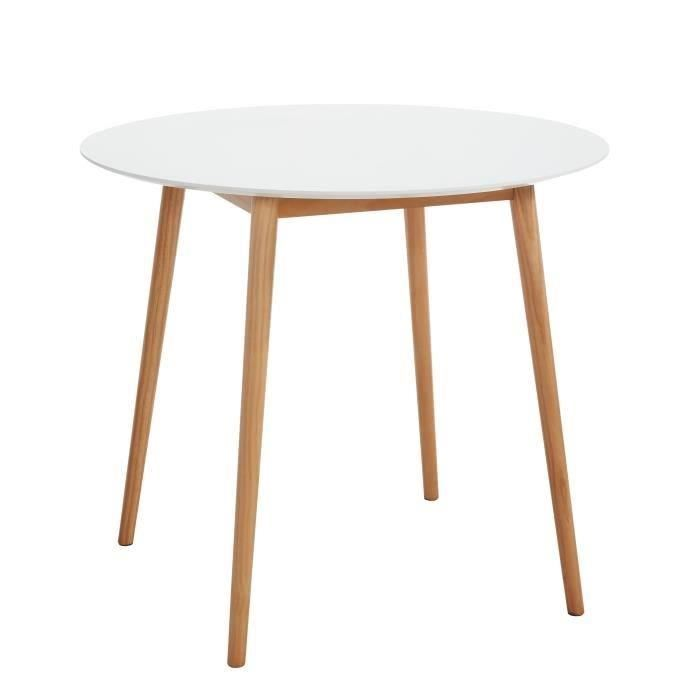 Table ronde scandinave 4 personnes