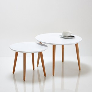 Table salle a manger blanche scandinave