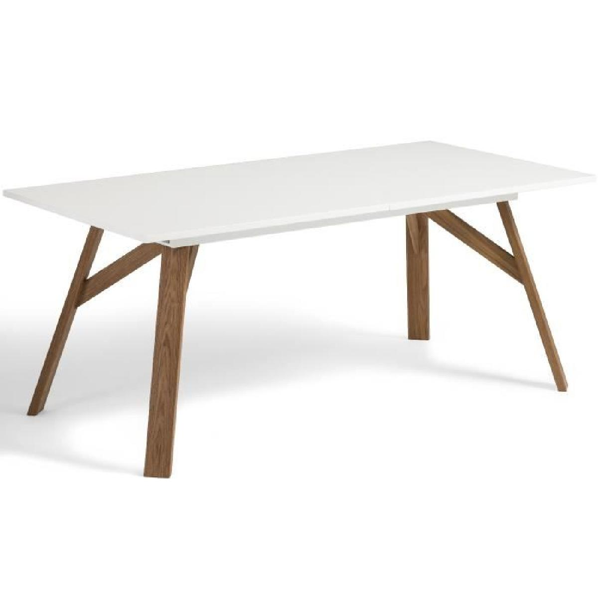Table extensible blanche scandinave