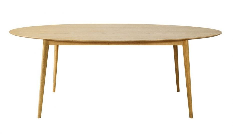 Table scandinave ronde extensible