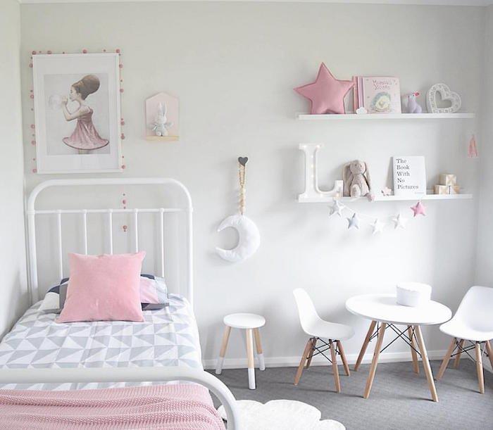 Deco scandinave rose chambre