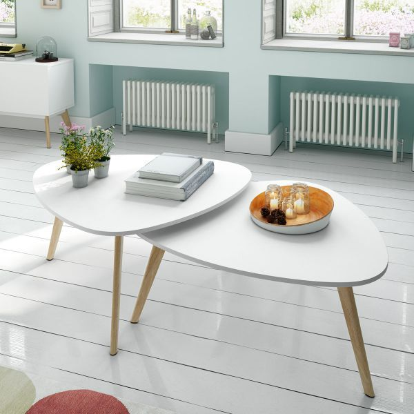 Table basse scandinave double