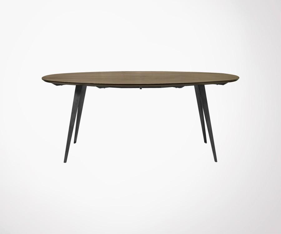 Table ovale bois scandinave