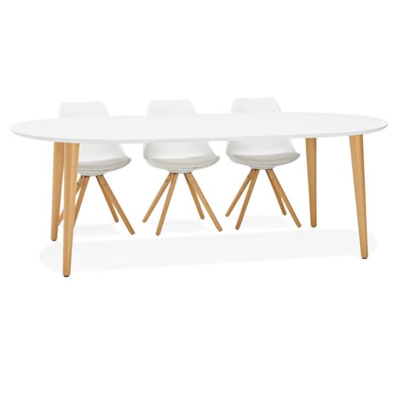 Table a manger style scandinave extensible