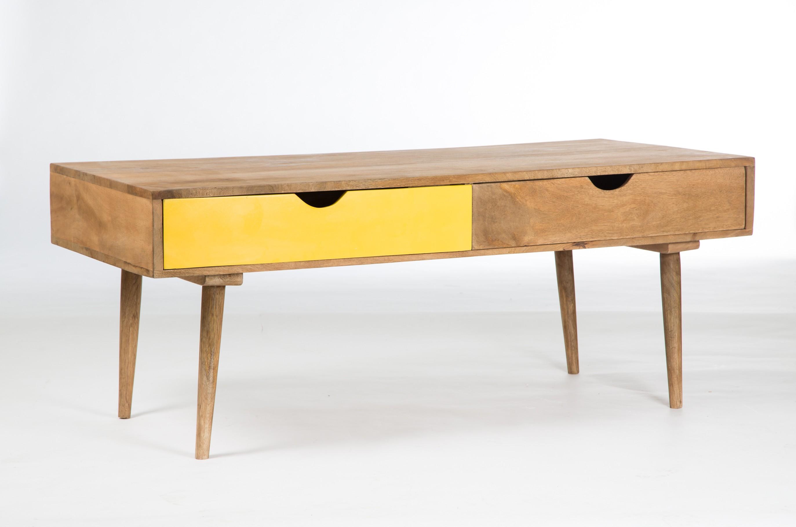 Table basse scandinave couleur bois