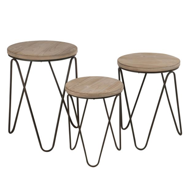 Table scandinave metal et bois