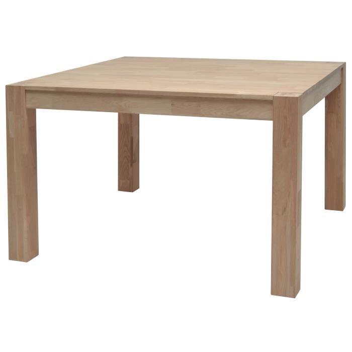 Table bois carrée scandinave