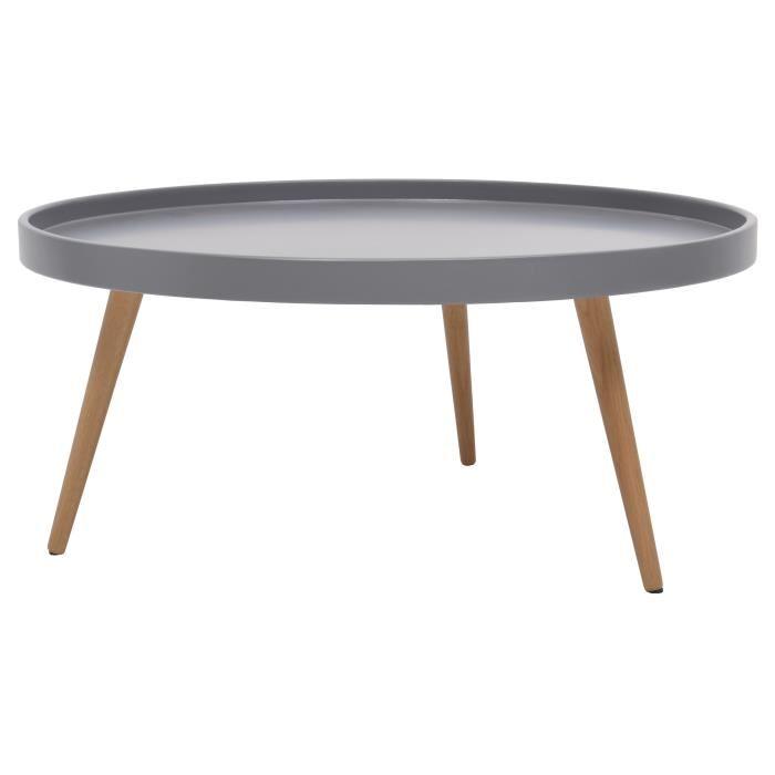 Table basse ronde bois scandinave