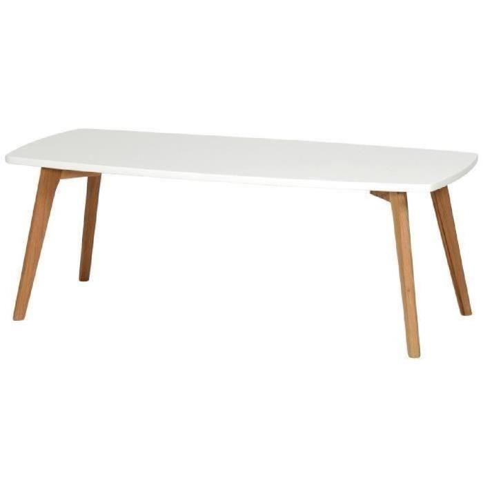 Table basse scandinave pied bois