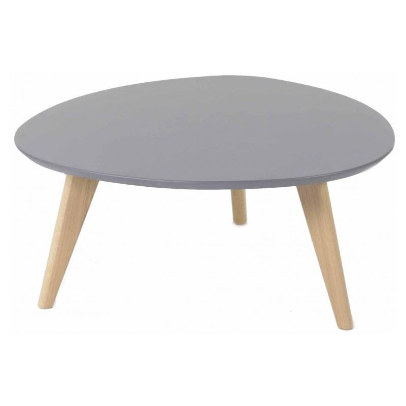Table basse gris scandinave