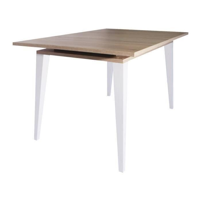 Table blanche extensible scandinave