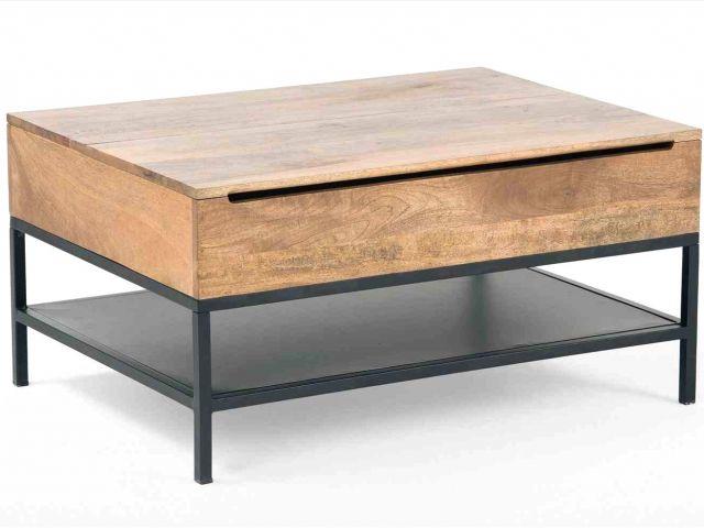 Siwa table basse vintage scandinave blanche 80 cm