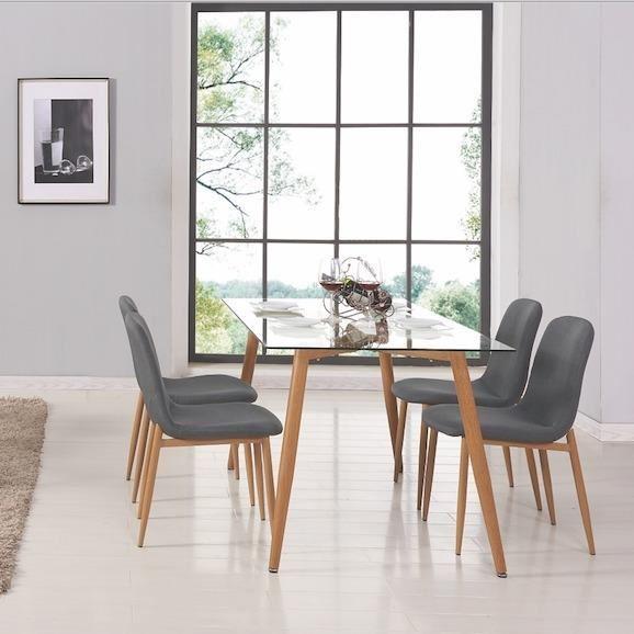 Table scandinave bois et verre