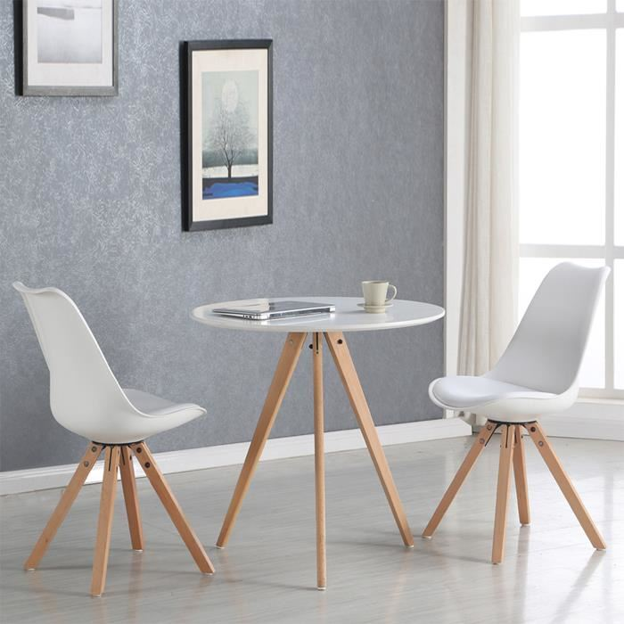 Table ronde scandinave 6 personnes