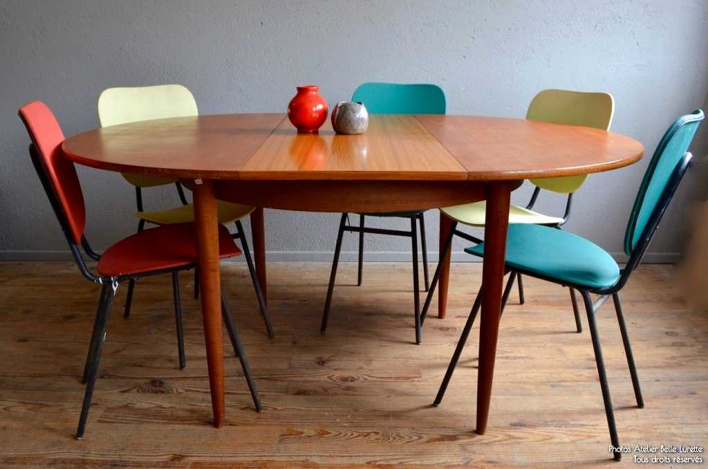 Table scandinave ronde avec rallonge