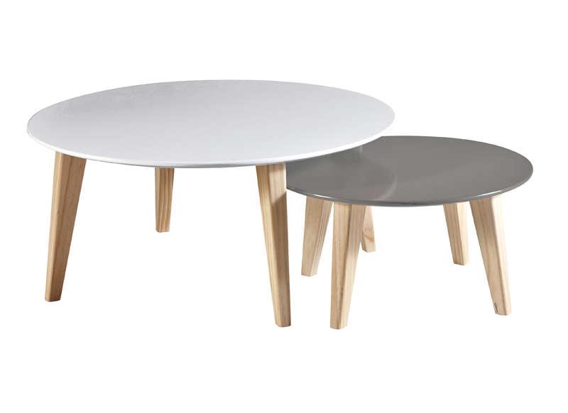 Table basse style scandinave gigogne
