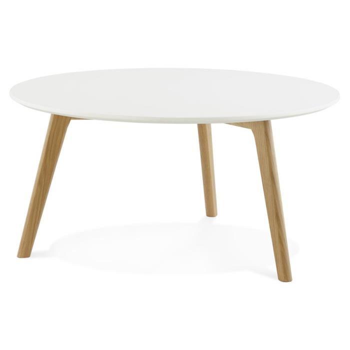Table scandinave plateau blanc