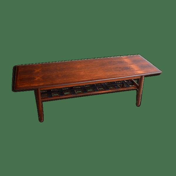 Table basse palissandre scandinave
