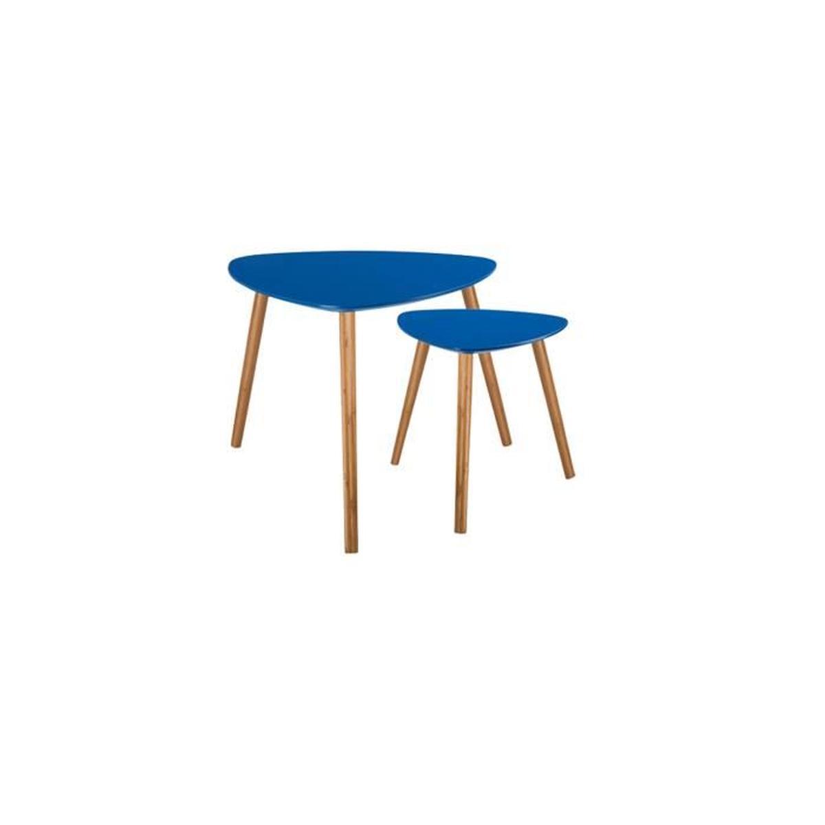 Table scandinave bleu canard