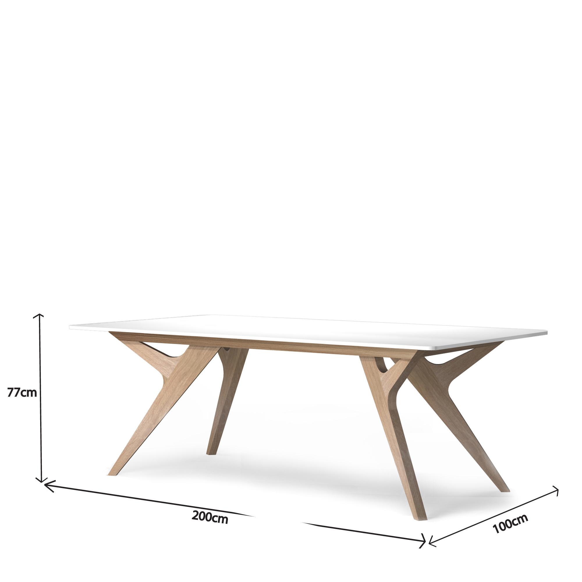Table scandinave bois et blanc